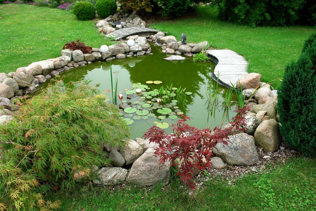 landscape water features design when done